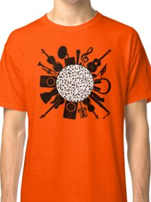 Music Notes  Instrument Collage Classic T-Shirt