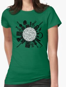 Music Notes  Instrument Collage T-Shirt