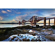 Forth rail bridge South Queensferry Midlothian Photographic Print