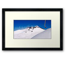 skiing on top of Etna Framed Print