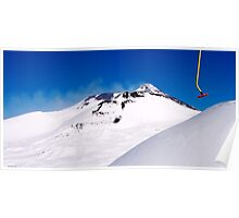 skiing on top of Etna Poster
