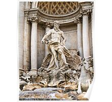 Early morning at the Trevi Fountain Poster
