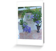 Lacey Blue Campanula Greeting Card