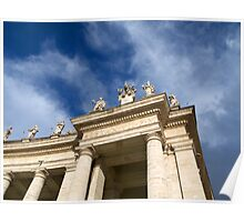 Colonnade on St Peters Square in Rome Poster