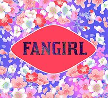 FANGIRL - FLORAL PINK by CynthiaAd
