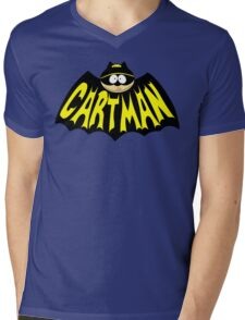 Cartman 1960's Logo Mashup Mens V-Neck T-Shirt