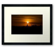 Sunset over Melbourne a week after Black Saturday Framed Print