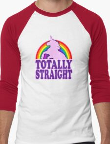 Funny - Totally Straight (vintage distressed look) Men's Baseball ¾ T-Shirt