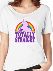 Funny - Totally Straight (vintage distressed look) Women's Relaxed Fit T-Shirt