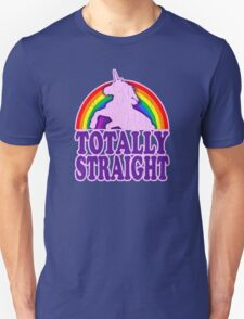 Funny - Totally Straight (vintage distressed look) Unisex T-Shirt