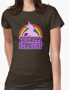 Funny - Totally Straight (vintage distressed look) Womens Fitted T-Shirt