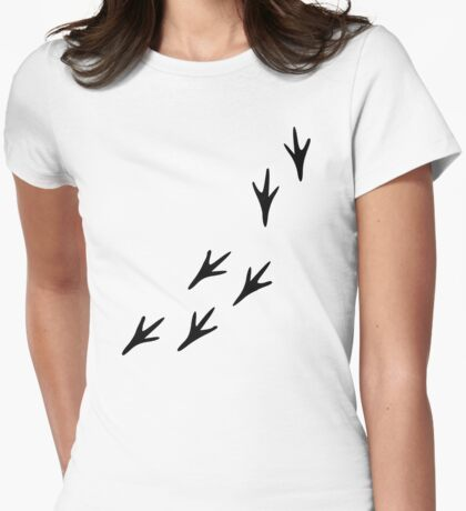 Bird tracks Womens Fitted T-Shirt