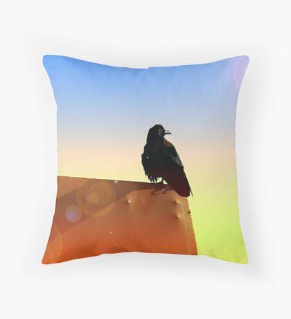 Mystical Raven Throw Pillow