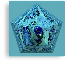 Blue waterpearl on an abstract pyramid  Canvas Print