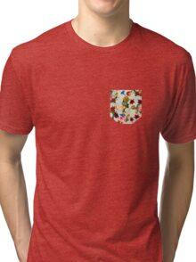 Flowery (white version) Tri-blend T-Shirt