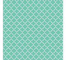 Moroccan teal Photographic Print
