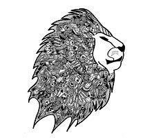 Zentangled Mane of Lion by elfinelines