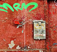 Green Letters and a Mailbox  by Ethna Gillespie