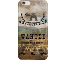 Adventurer Wanted iPhone Case/Skin