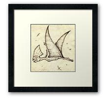 The Super Pterosaur Framed Print