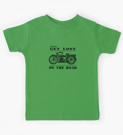 Let's Get Lost On The Road Kids Tee
