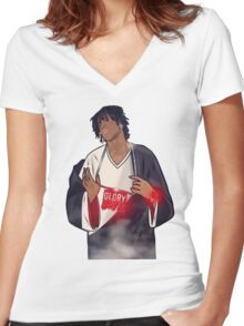 glory boyz ent chief keef Women's Fitted V-Neck T-Shirt