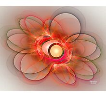 'Light Flame Abstract 116' Photographic Print