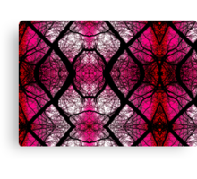 Marbled X - Pink Canvas Print