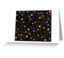 Square Line Neon Greeting Card