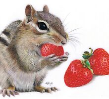 Strawberry Delight by Karen  Hull