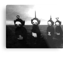 Black and White Teletubbies Metal Print