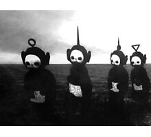 Black and White Teletubbies Photographic Print
