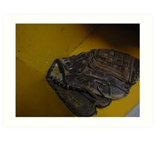 baseball glove Art Print