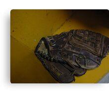 baseball glove Canvas Print