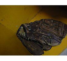 baseball glove Photographic Print
