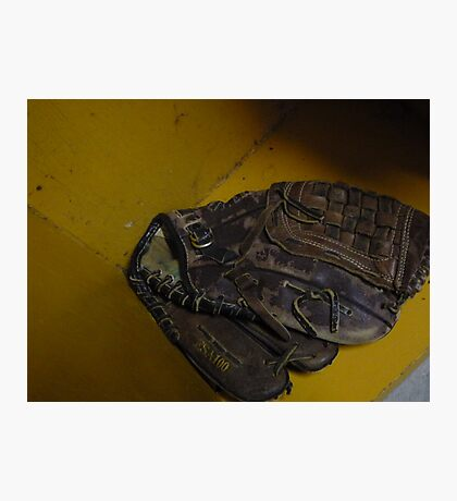 baseball glove Photographic Print