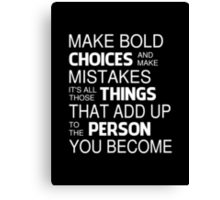 Angelina Jolie Inspired Quote Canvas Print