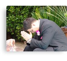 wedding prayer Canvas Print