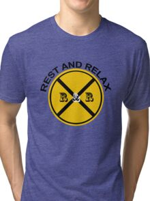 REST AND RELAX Tri-blend T-Shirt