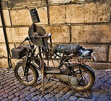 Knife Grinder's Bicycle in the Back Streets of Rome by BRENDA KEAN