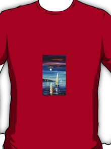 Moon Over The Bay — Buy Now Link - www.etsy.com/listing/227611188 T-Shirt