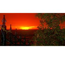 A Canadian Sunset.... for fence lovers... Photographic Print