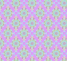 Vintage Moroccan Pattern in Lavender by Heaven7