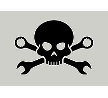 Skull 'n' Tools - Screw Pirate 1 (black) Photographic Print