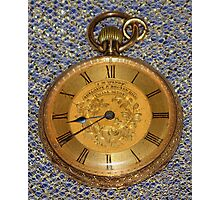 Grandpa's Gold Pocket Watch Photographic Print