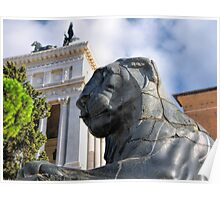 Lion on the Capitoline Hill Poster