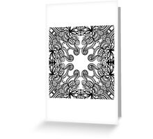 floral lineart pattern Greeting Card