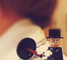Lego Penguin on shoulder Sticker