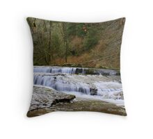 Falls on Sweet Creek #7, Oregon Throw Pillow