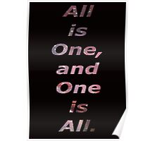 All is one. Poster